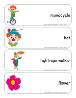 Giant word flashcards-Clowns-3