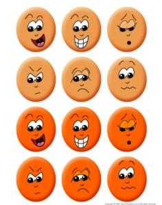 Human-Emotions faces