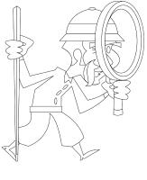Coloring-pages-theme-Detective