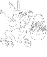 Coloring pages theme Easter 1