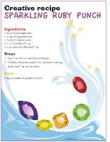 Creative recipe - Sparkling ruby punch