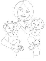 Coloring pages - theme Mother's Day