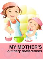 Poster - My mother's culinary preferences