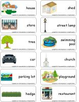 Word flashcards - My neighbourhood
