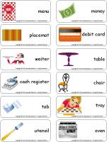 Word flashcards-Restaurant
