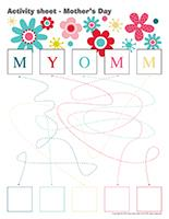 Activity sheets-Mother's Day