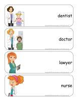 Giant word flashcards-My mother?s profession