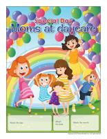 Perpetual calendar Special Day-Moms at daycare