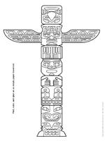Pin totem pole coloring pages on pinterest for Totem pole design template