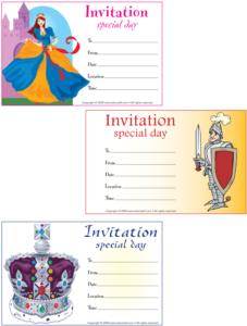Knight/Princess-Invitation card