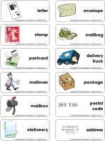 Postal Services-Word-flashcards