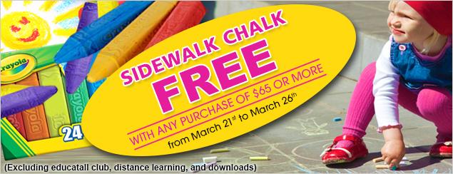 Side walk chalk free