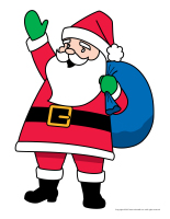 Open puppets-Santa Claus) Print and cut out the puppet. Glue a ...