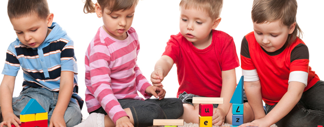 Enjoying group activities with an autistic child