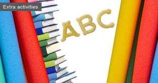 Alphabet books in your reading corner