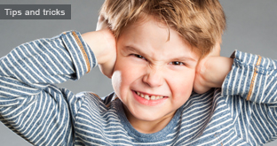 Child particularly sensitive to noise