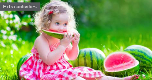 Playing with watermelons