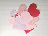 3D Paper Craft Hearts-3