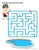 Activity sheets-At the pool