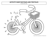 Activity sheets-Bicycles and tricycles