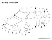 Activity sheets-Cars