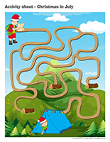 Activity sheets-Christmas in July