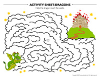 Activity sheets-Dragons