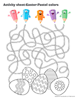 Activity-sheets-Easter Pastel colors