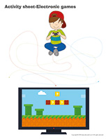 Activity sheets-Electronic games
