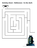 Activity sheets-Halloween-In the dark