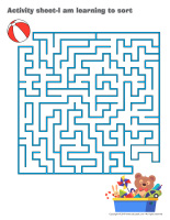 Activity sheets-I am learning to sort