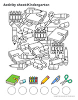 Activity sheets-Kindergarten
