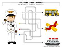 Activity sheets-Sailors