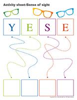 Activity sheets-Sense of sight