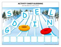 Activity sheets-Sledding