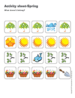 Activity sheets-Spring