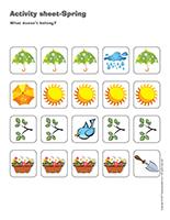 Activity sheets-Spring
