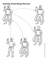 Activity sheets-Superheroes