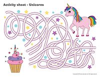 Activity sheets-Unicorns