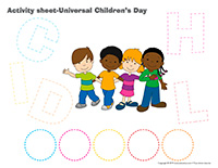 Activity sheets-Universal Children's Day 2020