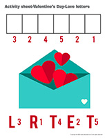 Activity sheets-Valentine's Day-Love letters