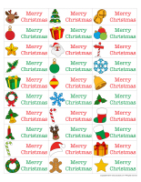 Adhesive labels-Christmas