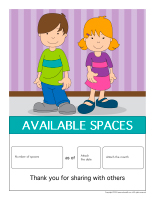 Available child care spaces