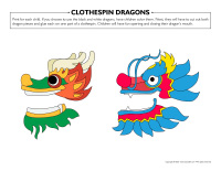 Clothespin dragons