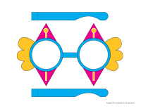 Clown-glasses