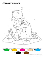 Color by number-Bears