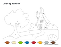 Color by number-Cabins