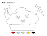 Color by number-Clouds