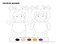Color by number-Pandas