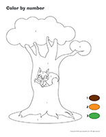 Color by number-Squirrels